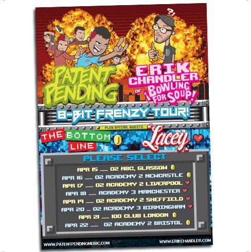 8 Bit Frenzy Tour Poster