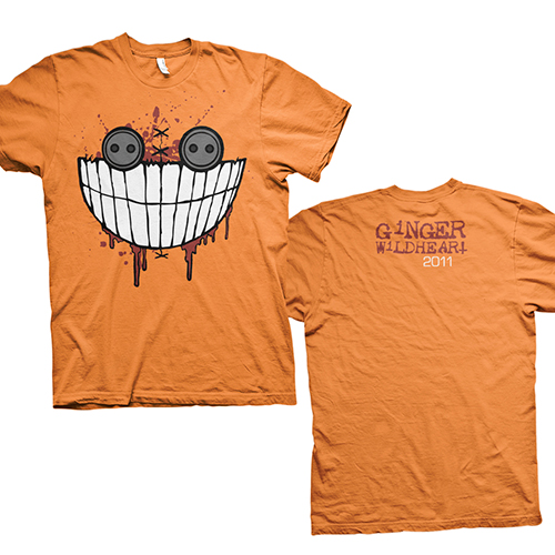 Jumbo Button Eye – Orange Tee