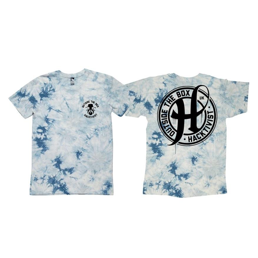 Stamp Tie Dye T-Shirt (Light Blue)