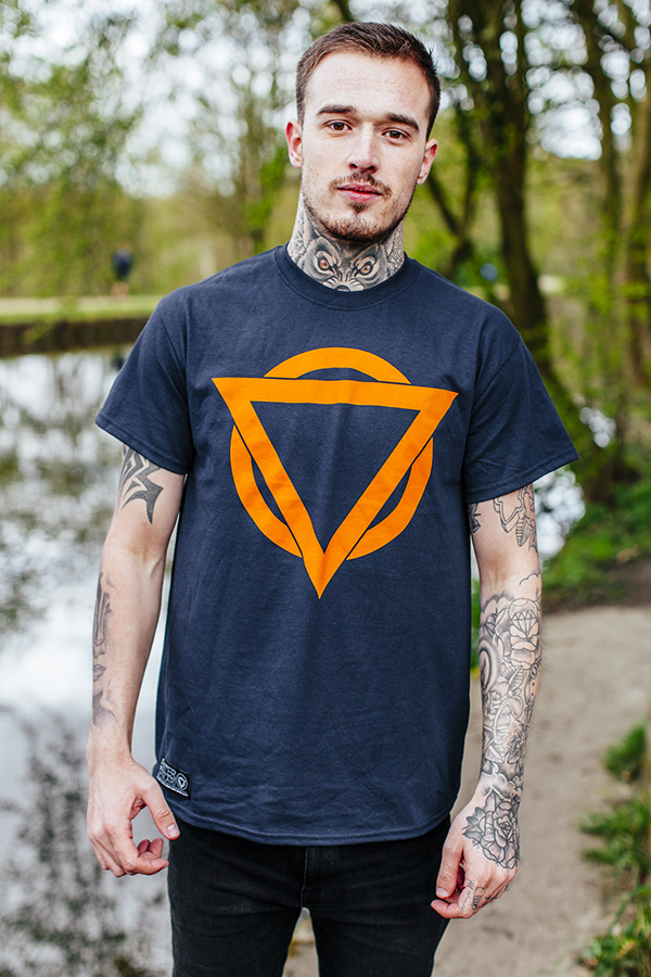 Colour Logo T Shirt (Navy / Orange)