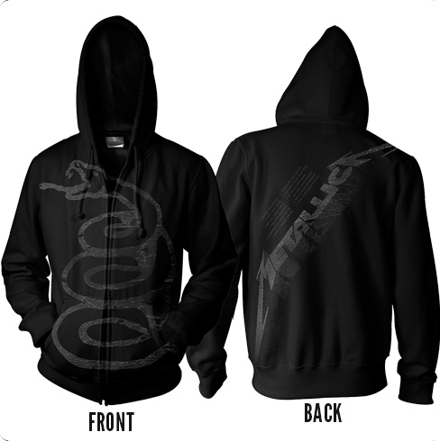 Black Album Burnished - Zip Hoodie