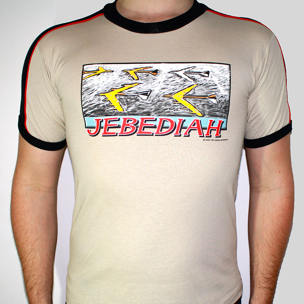 Aeroplane - Beige T-Shirt, Black Trim