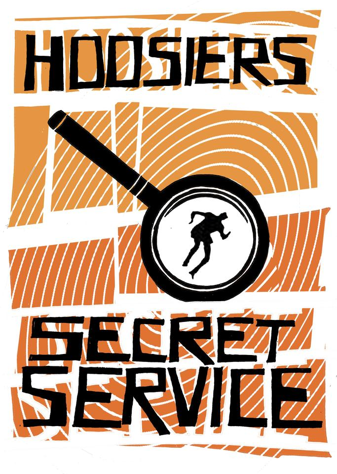 Secret Service Hand-printed Poster