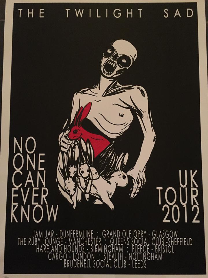2012 February UK Tour Screen Print