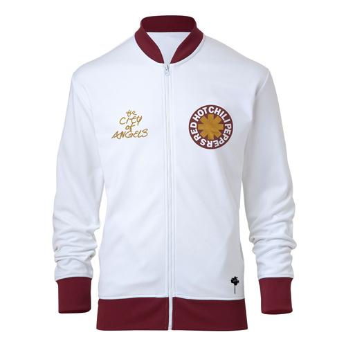 Logo & COA – White & Maroon Track Jacket