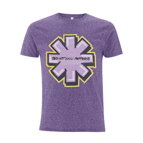 Graffiti Asterisk – Melange Purple Tee