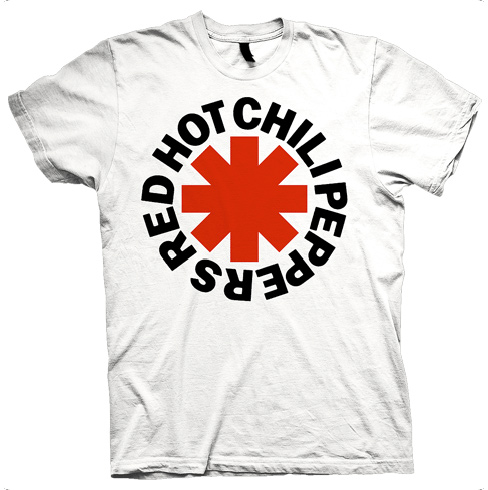Red Asterisk - white Tee
