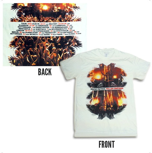 Fallen Empires Crowd Design White - Tee