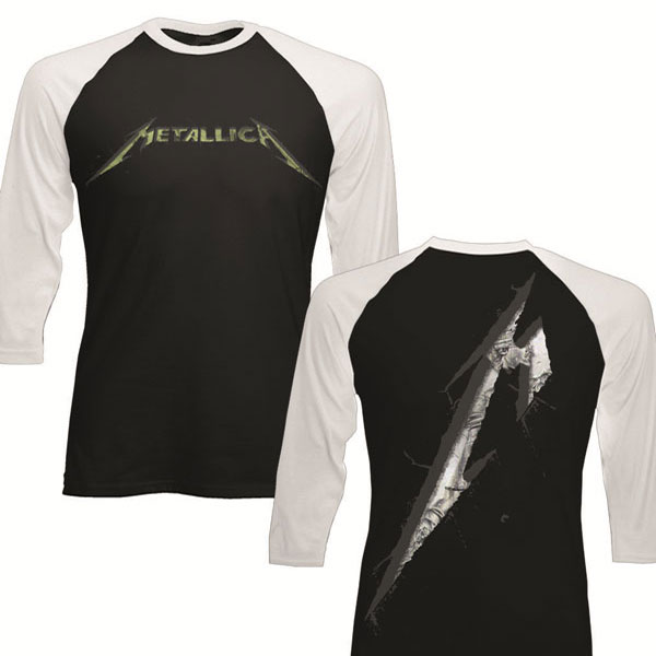 M Justice - Black/White - Raglan Long Sleeve Tee