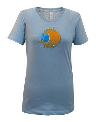 Ladies Light Blue Rock & Roll Submarine T-Shirt
