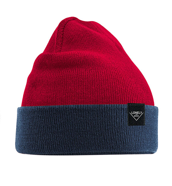 Lonely The Brave Beanie (NAVY & RED)