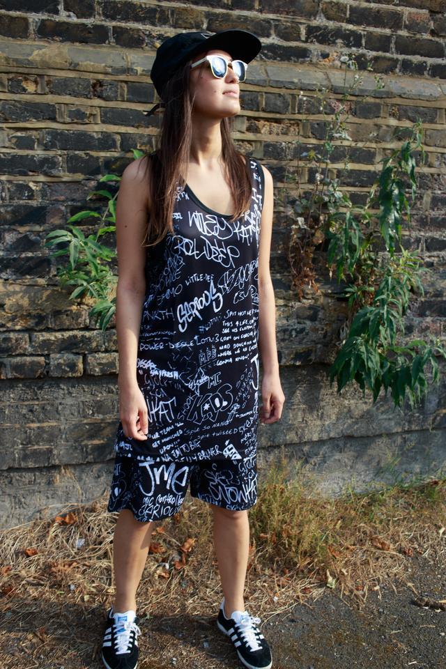 Sub Vests Full Print Black