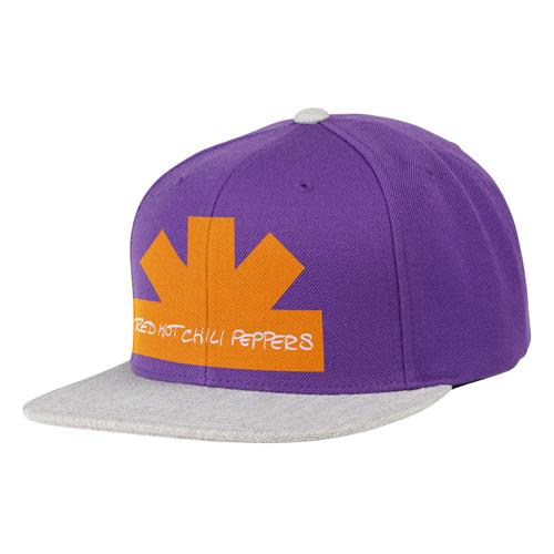 Half asterisk – Purple & Grey Snap Back Cap