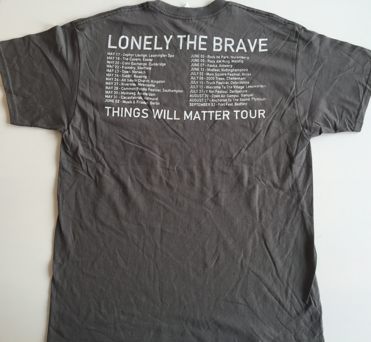Spring/Summer 2016 Tour T-Shirt (CHARCOAL) LIMITED STOCK